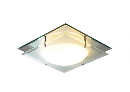 Mantra Mirrored Glass IP44 Flush Ceiling Light MAN472